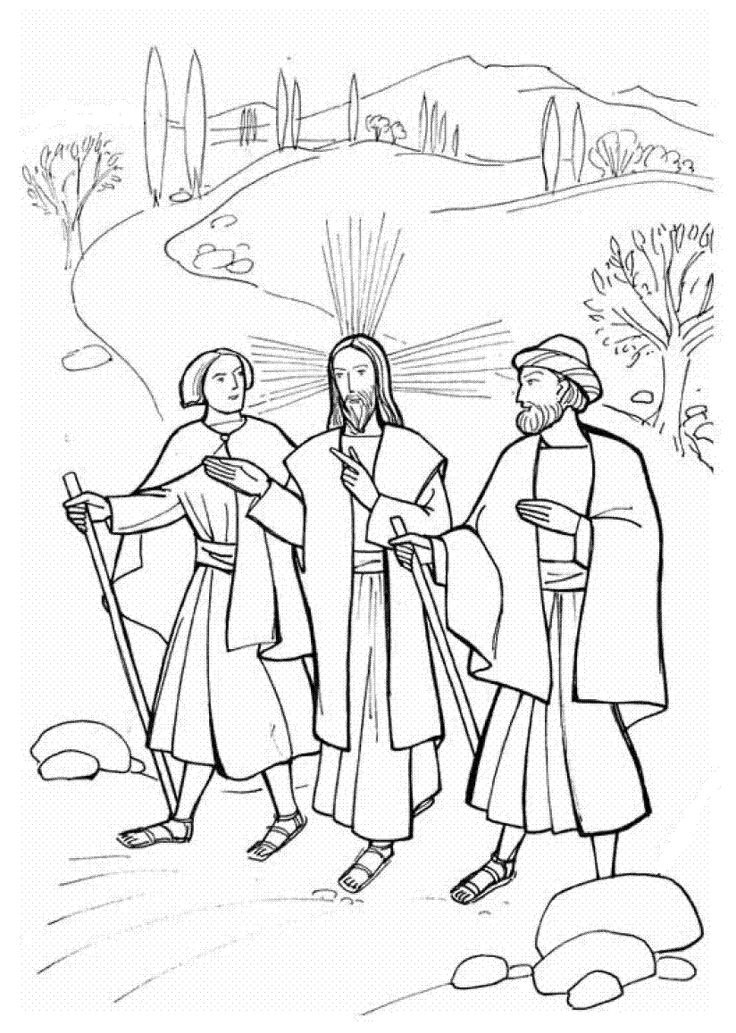 Jesus Appears to the Disciples Coloring Pages