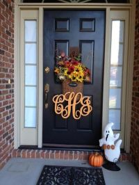16-inch Painted Wooden Monogram, Front Door Letter, Wall ...