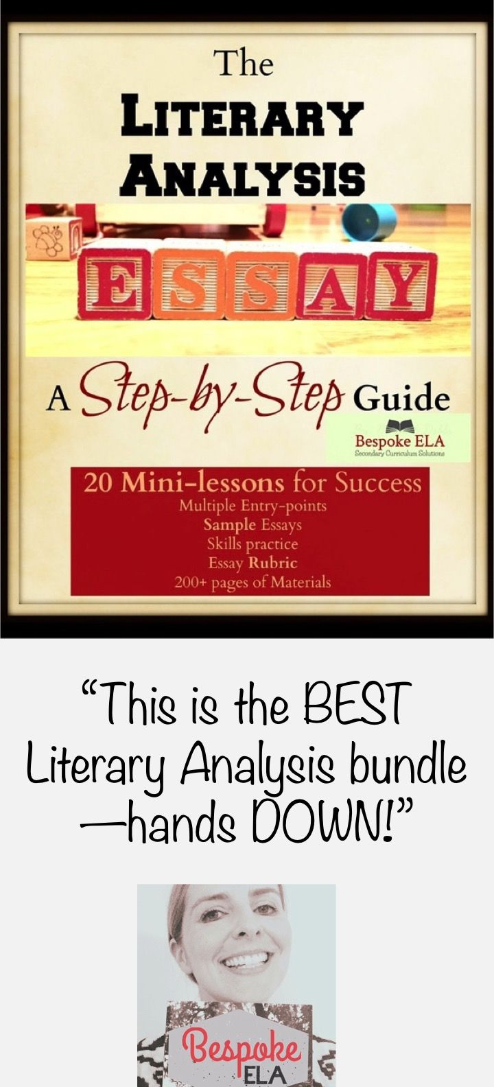 17 Best Ideas About Sample Essay Argumentative Mega Bundle The Literary  Analysis Essay Guide In 20