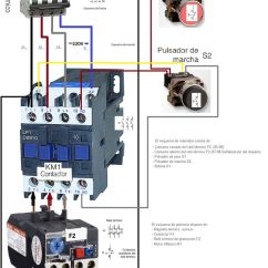 220 3 Phase Wiring Diagram 2003 Ford Focus Fuse Esquemas Eléctricos: Marcha Y Paro Como Conectarlo Trifasico | Eléctricos Pinterest