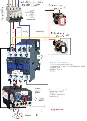 Esquemas eléctricos: MARCHA Y PARO COMO CONECTARLO