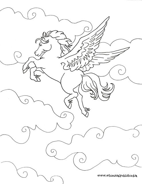 97 Best Images About Pegasus To Color