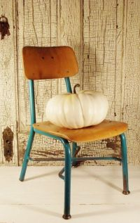 Vintage School Chair Child Size Wood and Metal Desk Chair