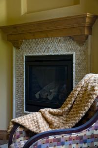 Tiled fireplace, Ropes and Tile on Pinterest