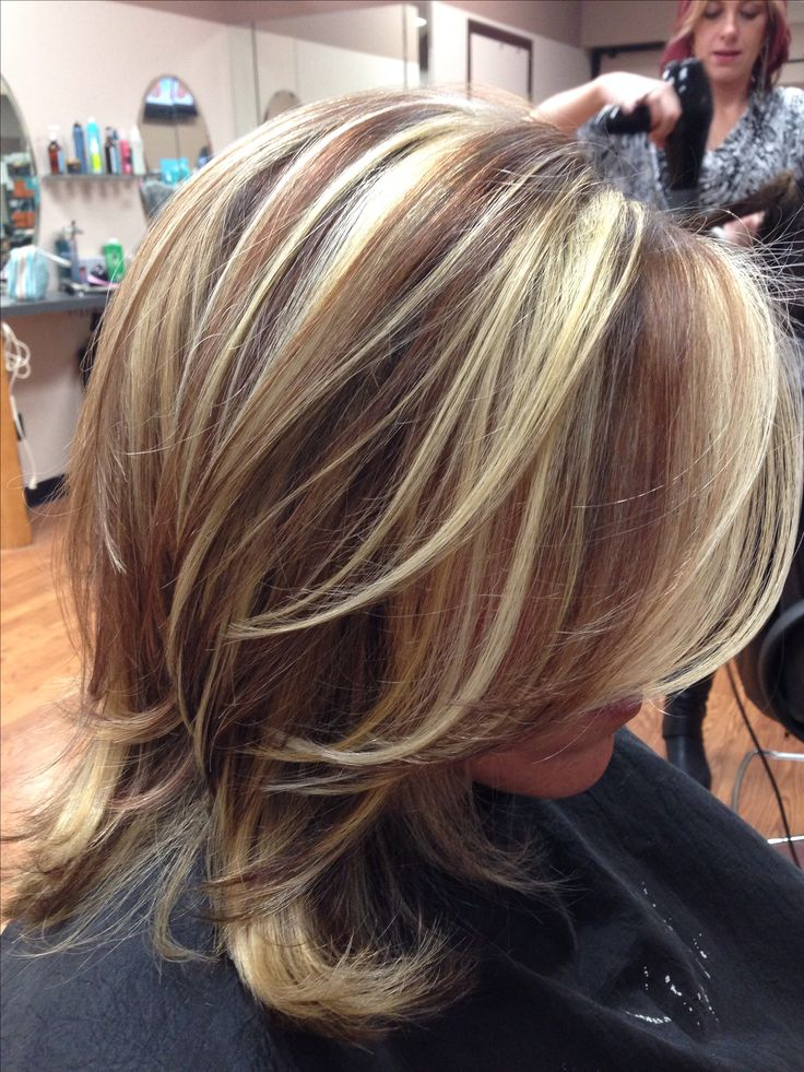 Lowlights and highlights  hair style ideas make up