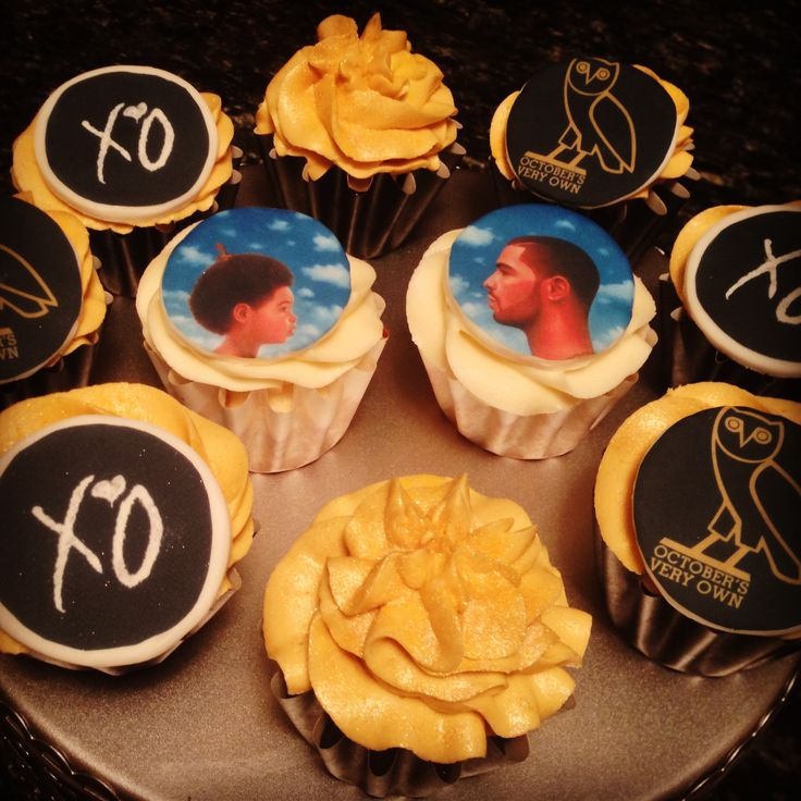 Drake OVO Cupcakes  My Own Baking And My Own DIY Projects