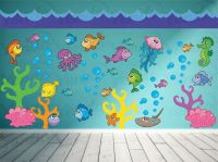 Ocean Wall Decal - Fish Wall Decal - Under the Sea Wall ...