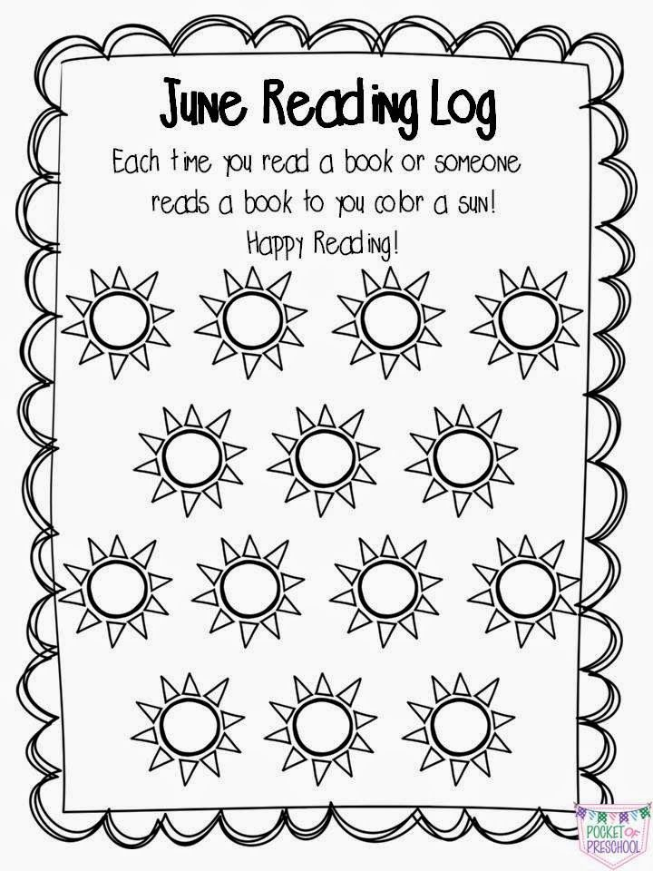 Preschool, Pre-K, & Kindergarten At Home Reading Logs