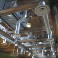 Exposed duct work in the ceiling can give a contemporary ...