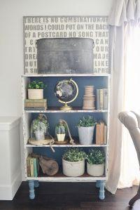 Chalk Paint Bookshelf Makeover - | Shelves, Paint ...