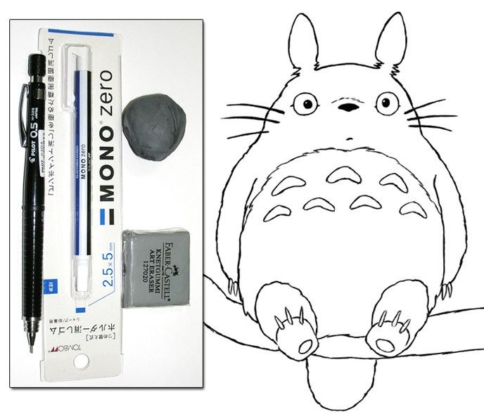 How to draw Totoro introduction for beginners and