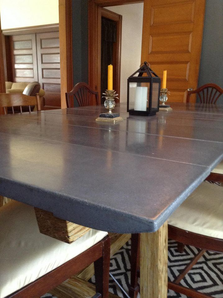 Fan Made This Concrete Dining Room Table Was Produced