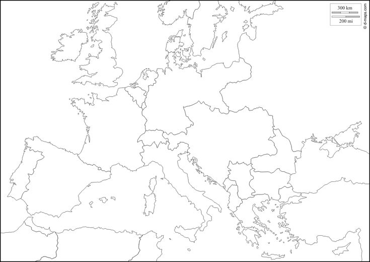 Europe 1914 : free map, free blank map, free outline map