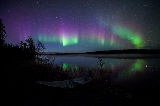 Northern Lights Over Lake InariFinnish Lapland Northern Lights Pinterest The Ojays