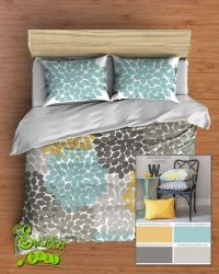 50 best Aqua, Yellow, Gray Bedroom images on Pinterest