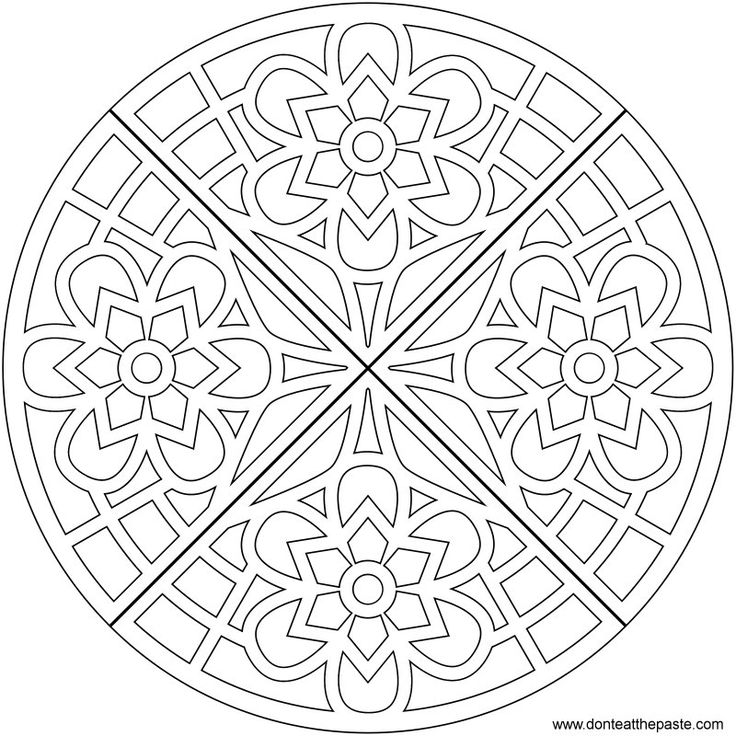 Waffle mandala coloring page- also available in