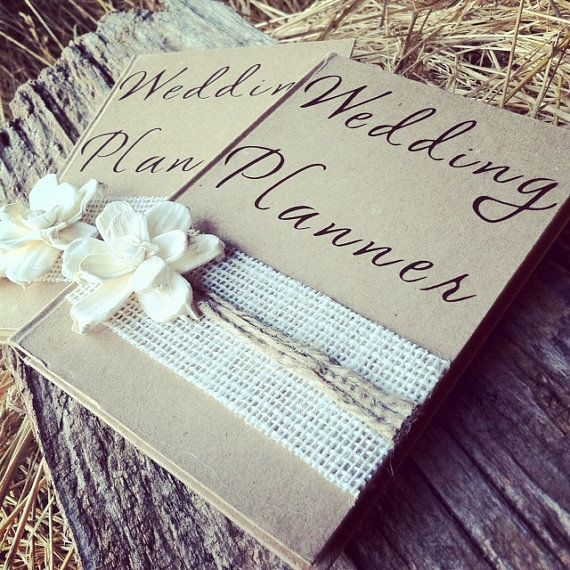 Burlap Wedding Planner Book Rustic Bridal By