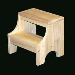 Folding Kitchen Step Stool Distressed Wood Cabinets Child's Unfinished   Kids Bath Pinterest ...