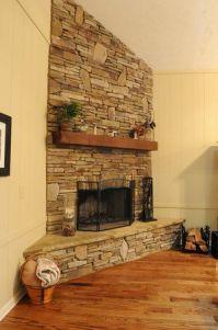 25+ best ideas about Corner stone fireplace on Pinterest ...