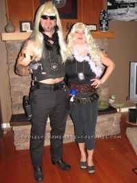 Coolest Dog the Bounty Hunter and Beth Halloween Couple