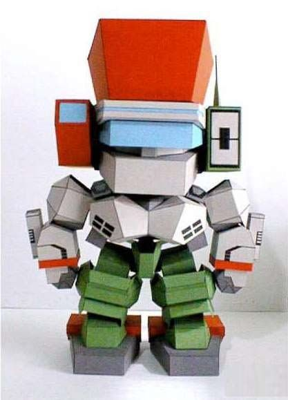 A Cute Robot Paper Model Free Template Download Http
