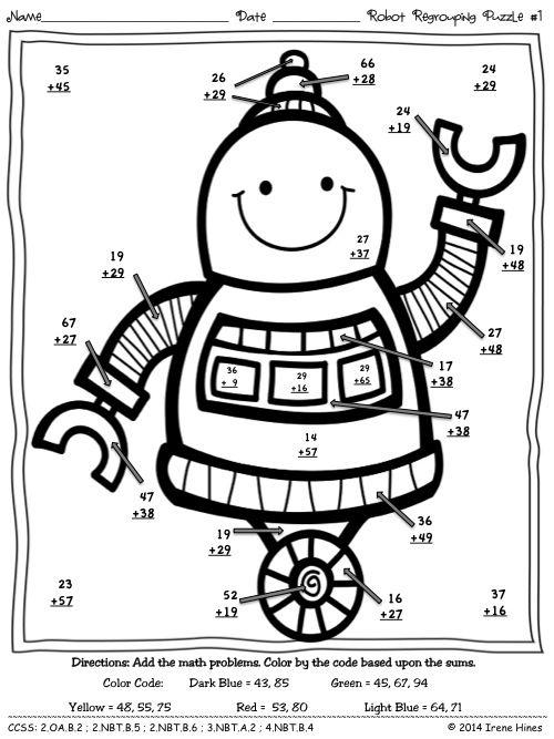 3 Digit By 1 Digit Multiplication Coloring Worksheets