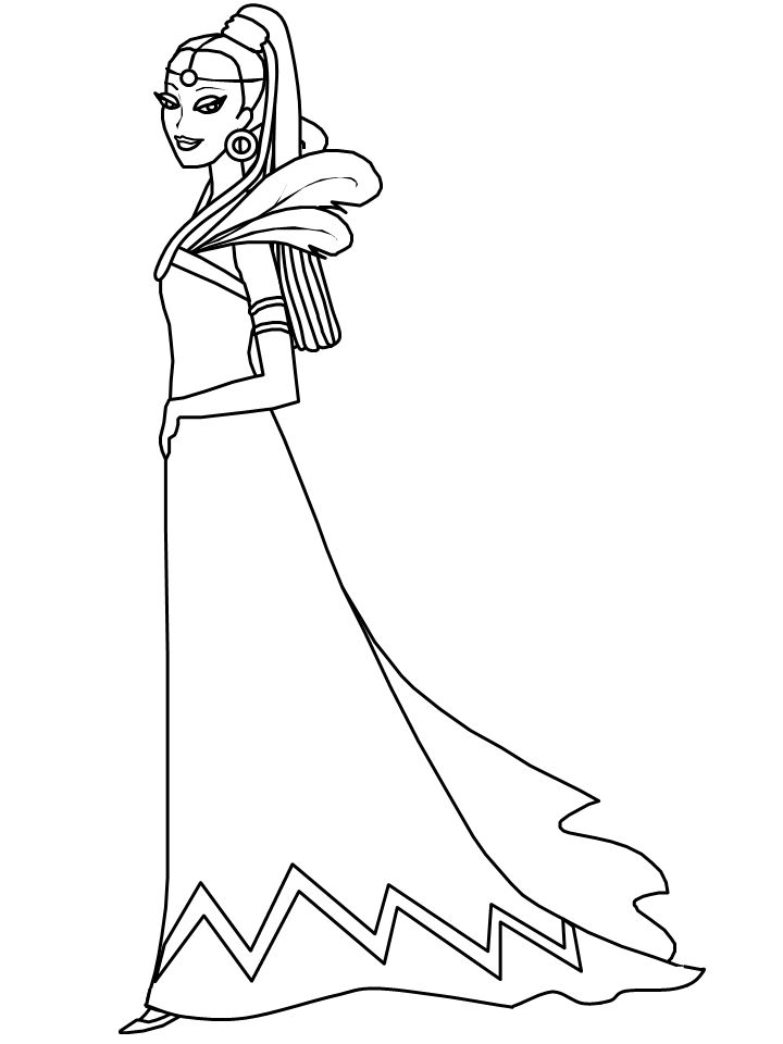 African Princess Girl Coloring Pages & Coloring Book