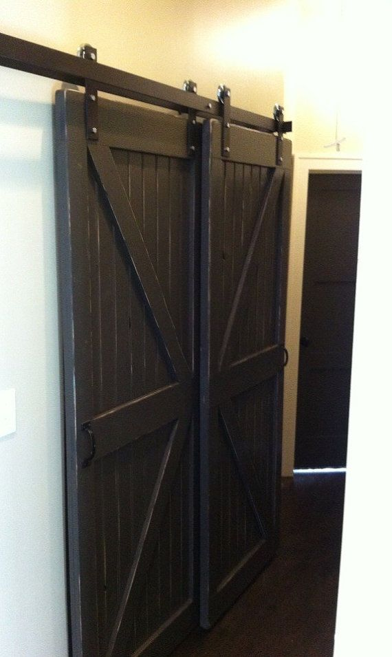 Double Bypass Sliding Barn Door  Hardware by RusticaINNOVATIONS This is what I want for the
