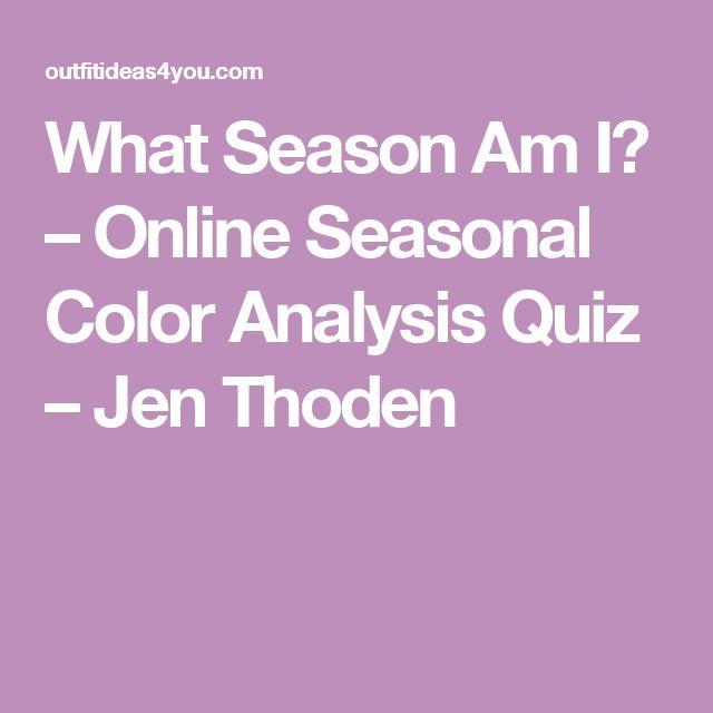 What Season Am I? - Online Seasonal Color Analysis Quiz