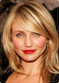Cameron Diaz's side-swept medium-length tresses | hair ...