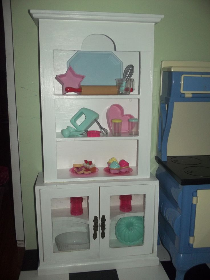 blonde kitchen cabinets islands carts hutch made from hobby lobby cabinet and a goodwill ...