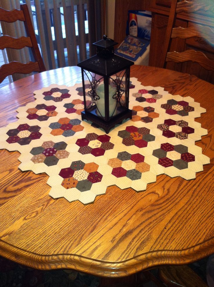 1 Inch Hexagon Table Topper Made From 5 Inch Charm Squares