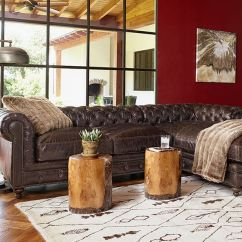 Rustic Leather Sofas Disney Pixar Cars Flip Open Sofa Brown Tufted Sectional   Living Room Ideas ...