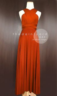 Maxi Burnt Orange Bridesmaid Prom Wedding Infinity Dress ...