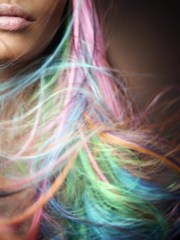 pastel rainbow hair. obsessed