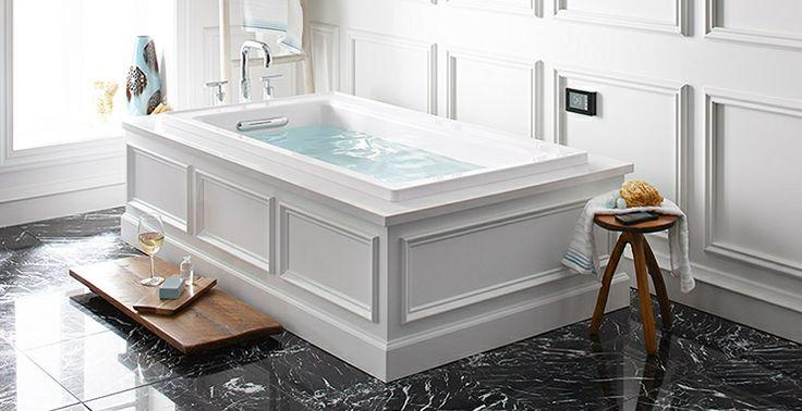 Kohler Tub With Wainscoting Bathroom Pinterest