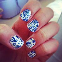paisley nail art. | Cool Nails for Kim | Pinterest | Nail ...