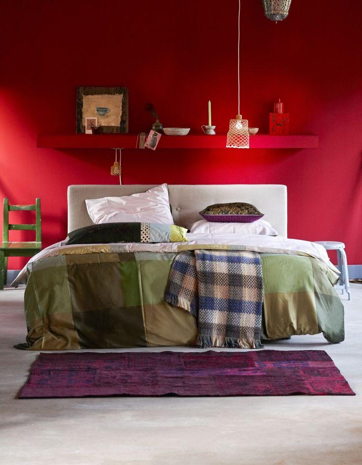 25 beste ideen over Rode slaapkamers op Pinterest  Rode