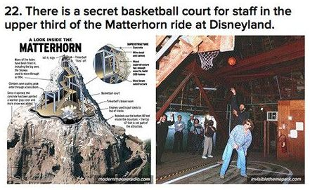 22 There is a secret basketball court for staff in the