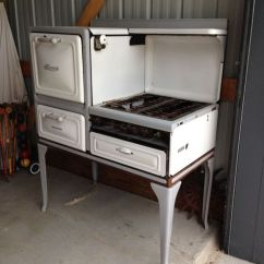 Antique Kitchen Appliances Modular Outdoor Frames Vintage Alcazar Enamel Gas Stove White And Grey 1930's ...