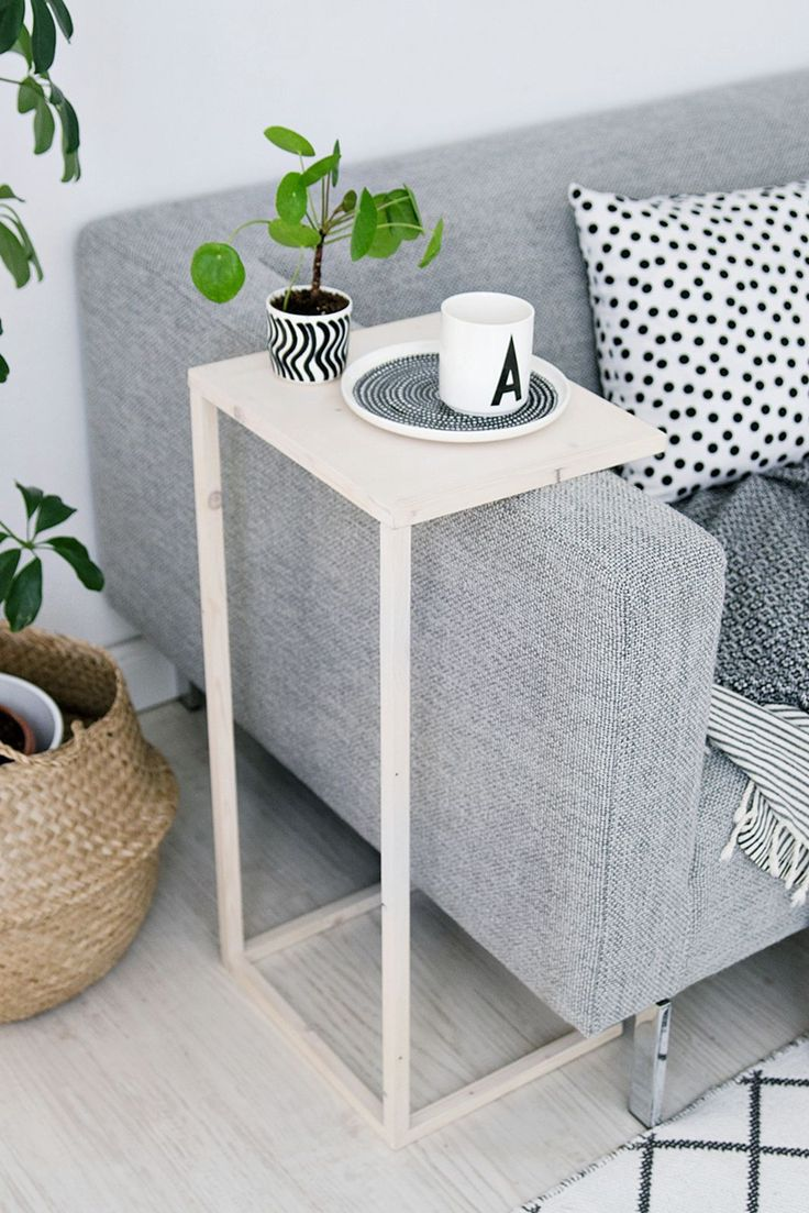 25 best ideas about Sofa side table on Pinterest  Bed