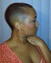 fade haircut black women
