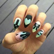ideas emo nail art