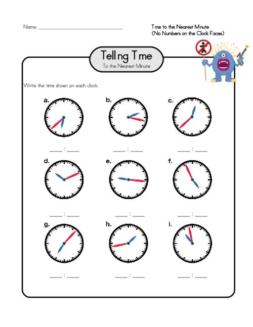 17 Best images about Telling Time Worksheets on Pinterest