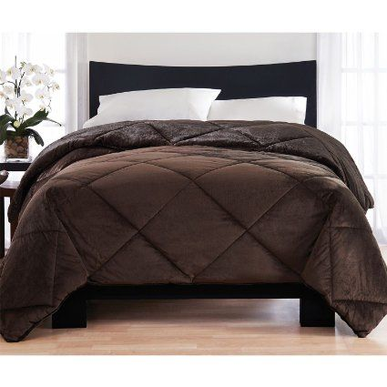 Amazoncom  London Fog Reversible Mink Comforter Brown