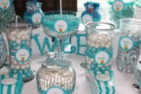 Candy buffet, Blue and white and Candy on Pinterest