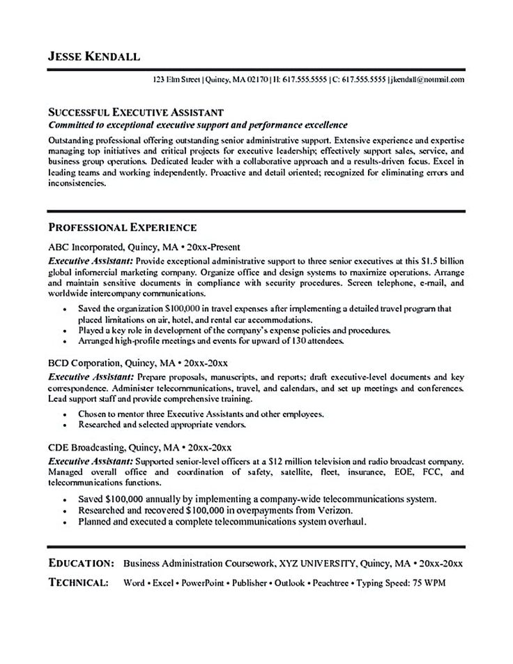 Administrative Support Resume Examples