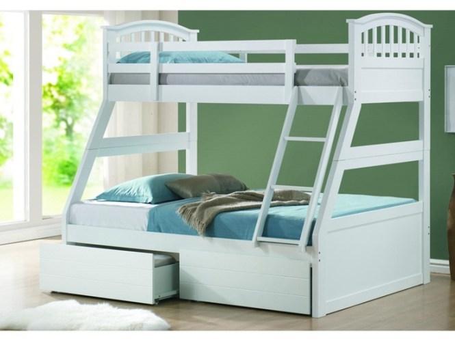 Kids Polo Three Sleeper White Bed