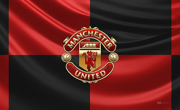 Mufc Iphone Wallpaper Manchester United F C 3d Badge Over Flag Fine Art Print