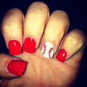 baseball nails super cute girls